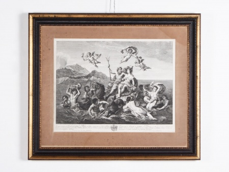 De Bologne. 18th Century Engraving: Triumph of Neptune and Galatea - IB02294