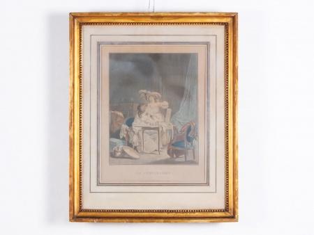 """""""نيكولا لافرينس"""": مطبوعة بالألوان المائيَّة ل""""جانيني"""" - IB02301"""