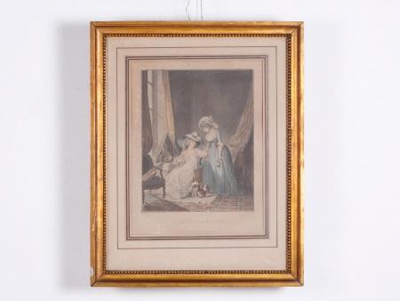 """نيكولا لافرينس: مَطبوعة بالألوان المائيَّة ل""""جانيني"""" - IB02302"""