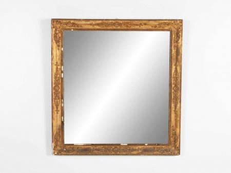 Ancienne Glace Miroir Rectangle du 19ème Siècle - IB02309