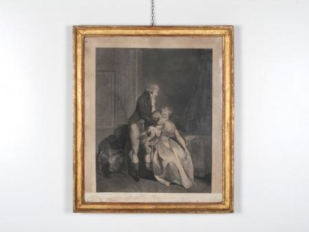 Engraving: Happy Family 18th Century - IB02343