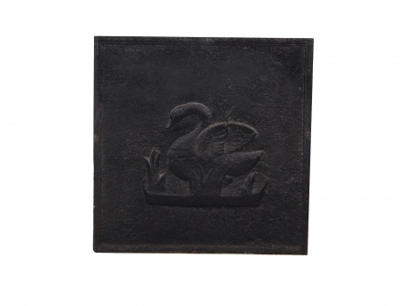 Square Cast-Iron Chimney Plate 18th Century - IB02355