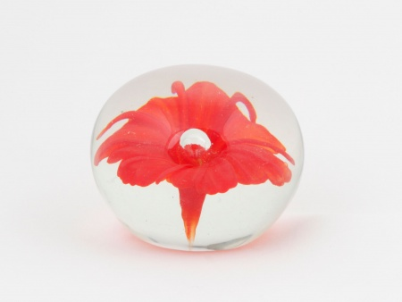 Round Paperweight with Floral Design - IB02367