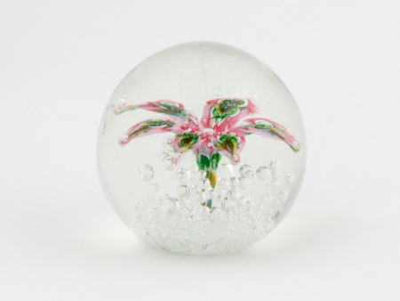 Paperweight with Floral Design. France - IB02372