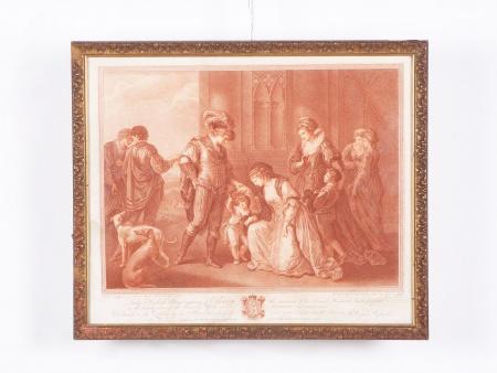 أنجيليكا كوفمان: منقوشة حمراء من القرن الثامن عشر - IB02393