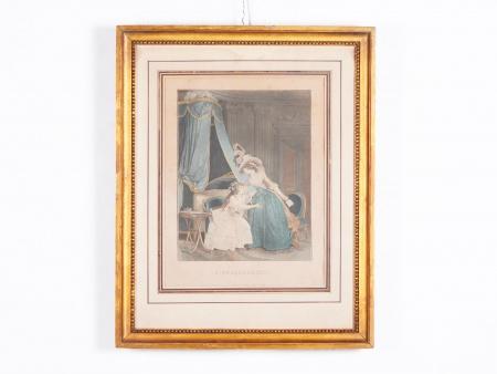 """نيكولا لافرينس: مطبوعة بالألوان المائيَّة ل""""جانيني"""" - IB02397"""