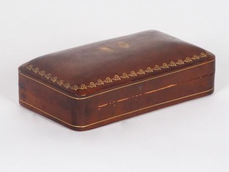 Rectangular shaped Embossed Leather Box - IB02425