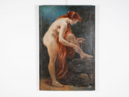 "Adolphe Lalyre Known as Lalire: ""Rousse au Bain"" - IB02527"