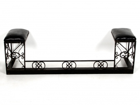 Two-Seat Bench in Wrought Iron - IB02542