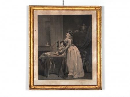 """Engraving: """"La Leçon de Musique"""" 19th Century - IB02574"""