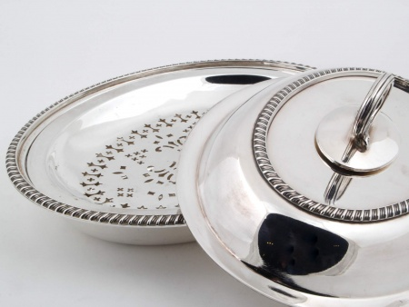 Silver Plated Metal Tureen - IB02583