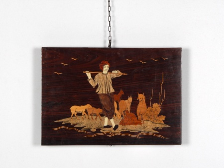 Painting in Wood Marquetry with Ivory Inlay - IB02597