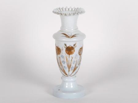 Scalloped Neck Opaline Vase - IB03210