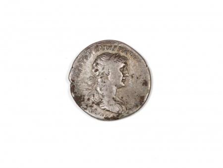 """Pièce Romaine en Argent """"Trajan"""". Poids: 3 grs - IB03546"""