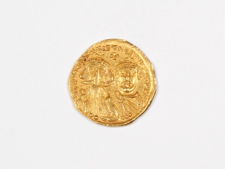 Byzantine Gold Coin Heraclius and Son - IB03562