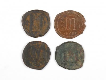 Four Byzantine Bronze Coins. Weight: 63.50 Grs - IB03566