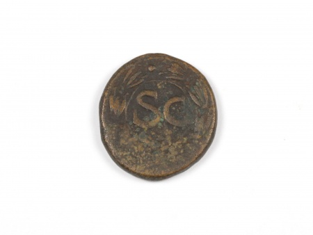 Roman Bronze Coin Nero. Weight: 7.4 grs - IB03577