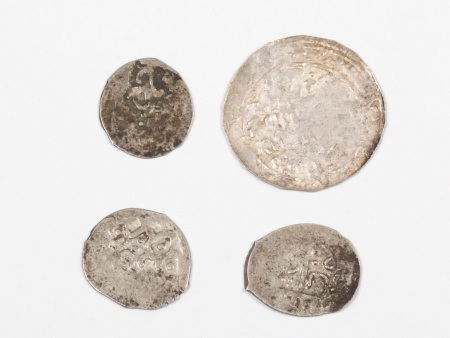 Four Silver Islamic Coins of the Mamluk Period. Weight: 4 Grs - IB03580