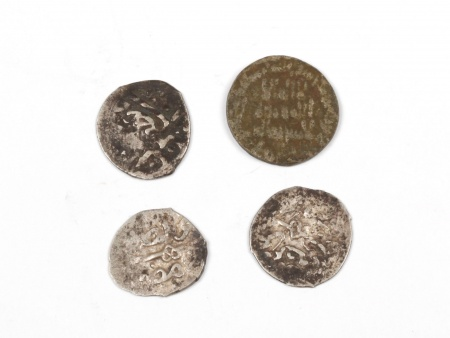 Four Silver Islamic Coins of the Mamluk Period. Weight: 5.10 Grs - IB03582