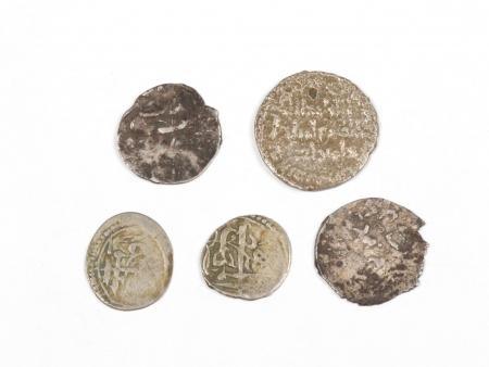 Five Silver Islamic Coins of the Mamluk Period - IB03584