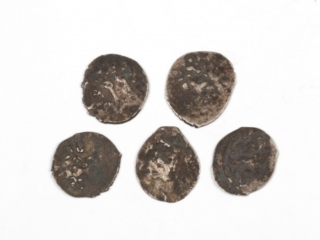 Five Silver Coins of the Mamluk Period - IB03585