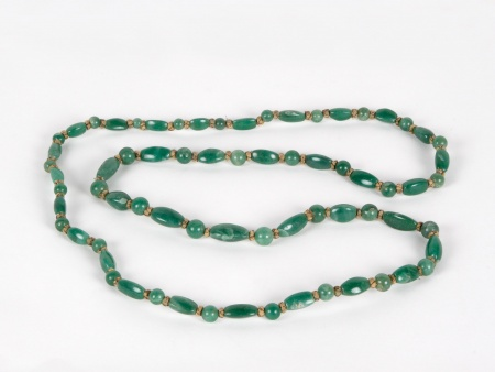 Big Necklace in Naturel Aventurine Stones - IB03651