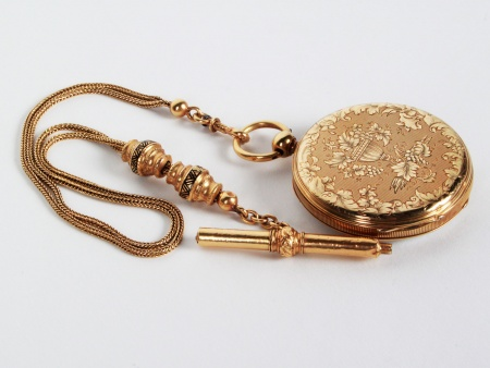 Gousset Watch with Gold Chain 19th Century - IB03774