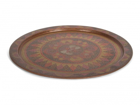 Oriental Tray in Copper and Silver - IB03921
