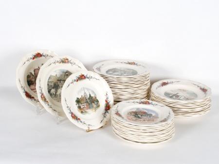 Obernai Sarreguemines Earthenware Table Set - IB03927
