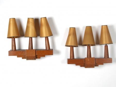 Pair of Art Deco Bracket Lamps - IB03935