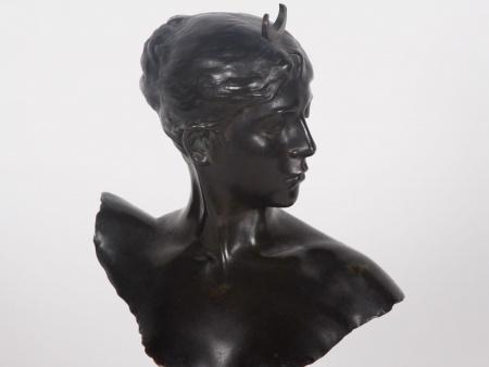 "Jean Alexandre Joseph Falguière: ""Buste de Diane"" - IB04050"