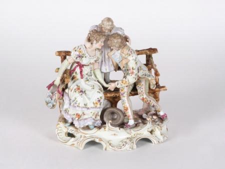 "19th Century ""Manufacture Royale de Dresdes"" Group - IB04106"