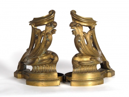 Pair of Bronze Andirons. 19th Century - IB04122