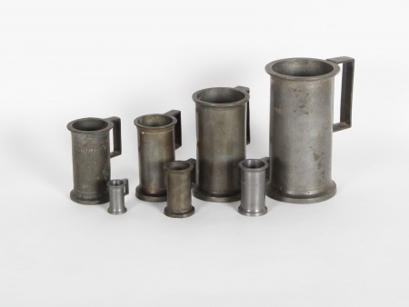Seven Pewter Pitchers. 18th and 19th Centuries - IB04241