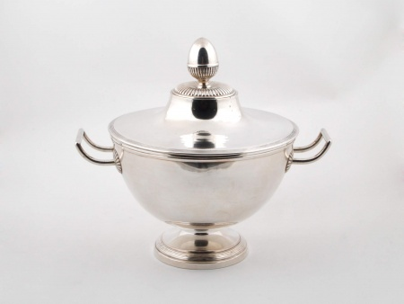 French Silver Plated Metal Tureen - IB04256