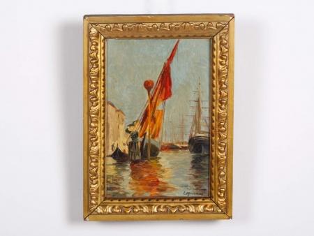 """Jean Etienne Mondineu """"Voiliers au Port"""" - IB04366"""