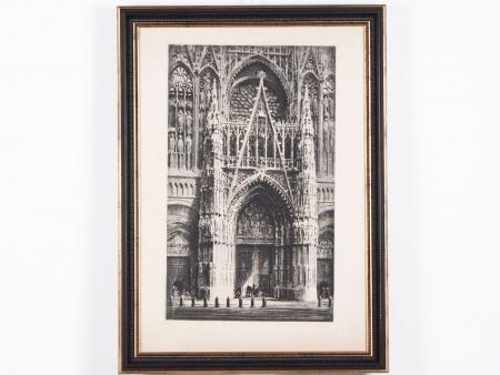 """Lithograph """"La Cathédrale de Notre Dame"""". 19ème - IB04375"""