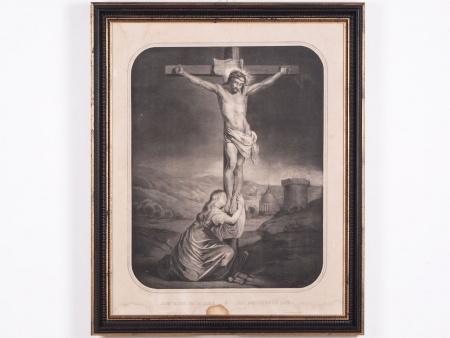 """Engraving """"Jésus Meurt sur la Croix"""". 19th Century - IB04376"""