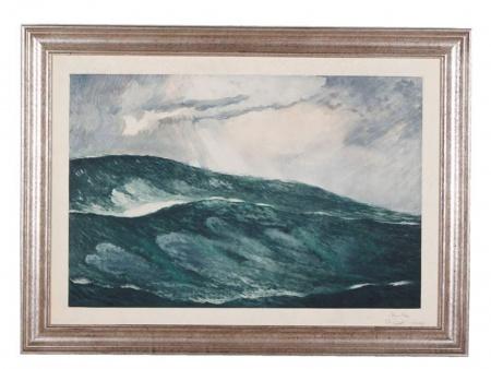"Marine Lithograph ""Mer Démontée"" - IB04378"