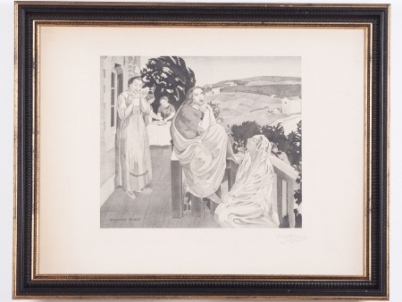 "Maurice Denis Lithograph ""Scène Religieuse"" - IB04387"