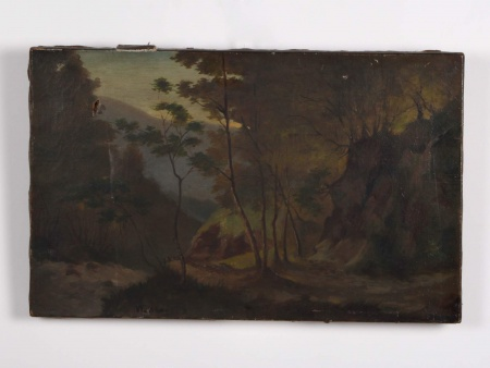 "Oil on Canvas ""Paysage de Forêt"". 19th Century - IB04389"