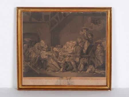 """مَنقوشة """"لو ديفرتيسمان غراسيو دون فامي فيلّاجواز"""". القرن الثامن عشر - IB04393"""