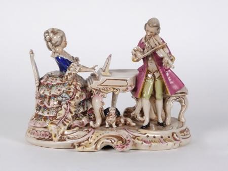 German Porcelain Group. 19th Century - IB04439