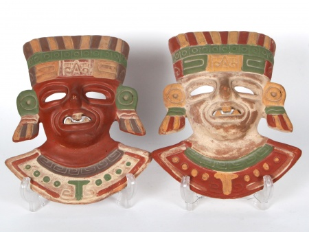 Two Terracotta Masks - IB04480