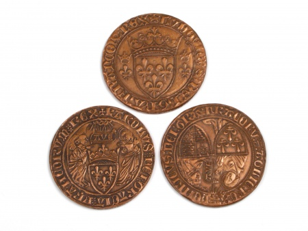 Three Bronze Medals Middle Age Style - IB04485