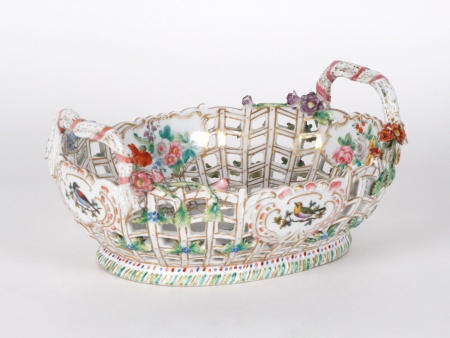 Meissen Porcelain Basket. Turn of the 19th Century - IB04675