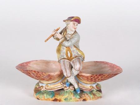 Biscuit-Glazed Figurine. Late 19th Century - IB04720