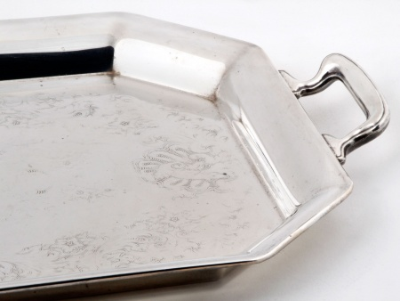 English Towle Tray in Silver Plated Metal - IB04729