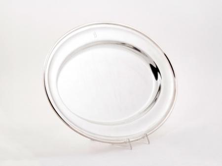 English JB&S Oval Shaped Silver Plated Metal Platter - IB04733