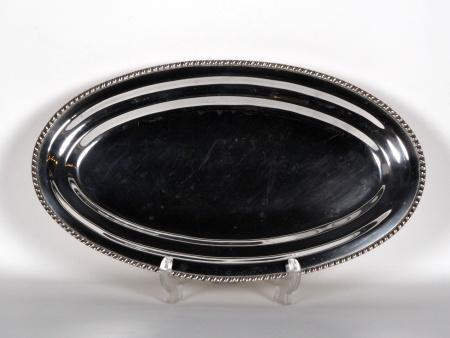 Silver Plated Metal Platter - IB04735